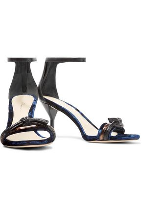 3.1 PHILLIP LIM Kiddie velvet and leather sandals