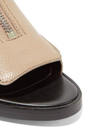 3.1 PHILLIP LIM Alexa textured-leather slingback sandals