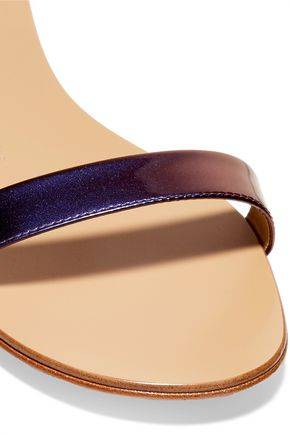 GIUSEPPE ZANOTTI Irridescent leather sandals