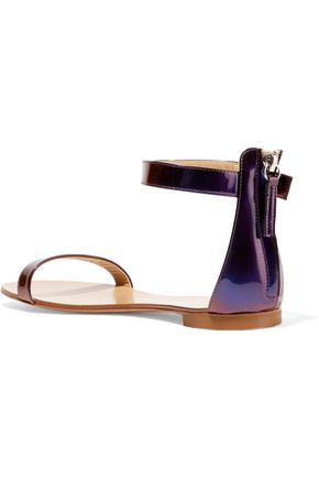 GIUSEPPE ZANOTTI DESIGN Irridescent leather sandals