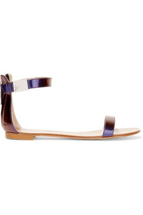 GIUSEPPE ZANOTTI DESIGN Irridescent leather sandals