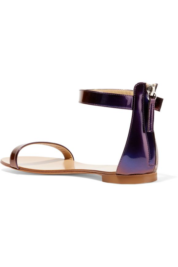 Irridescent leather sandals | GIUSEPPE ZANOTTI DESIGN | Sale up to 70% off  | THE OUTNET