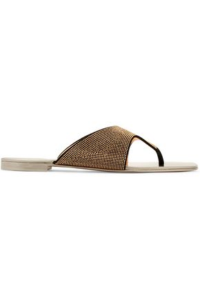 GIUSEPPE ZANOTTI Stud-embellished suede sandals