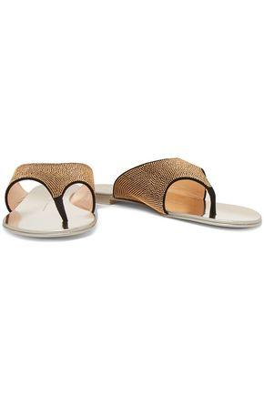 GIUSEPPE ZANOTTI DESIGN Stud-embellished suede sandals