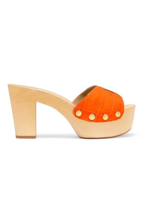 GIUSEPPE ZANOTTI DESIGN Croc-effect leather clogs