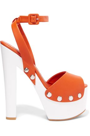 GIUSEPPE ZANOTTI DESIGN Leather platform sandals