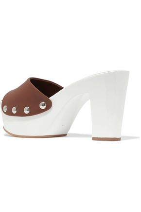 GIUSEPPE ZANOTTI DESIGN Leather clogs