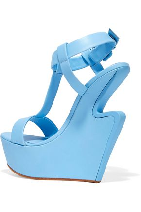 GIUSEPPE ZANOTTI DESIGN Cutout leather wedge sandals