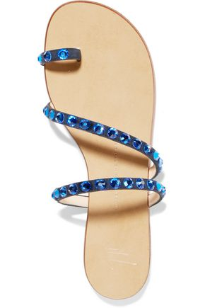 GIUSEPPE ZANOTTI DESIGN Embellished suede sandals