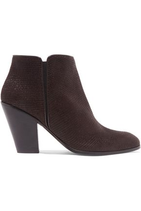 GIUSEPPE ZANOTTI DESIGN Lizard-effect leather ankle boots