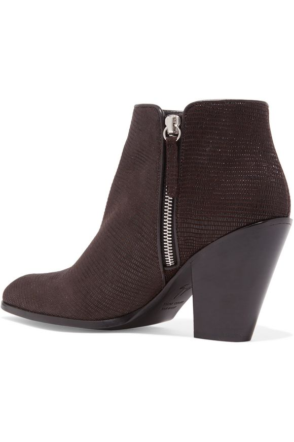 Lizard-effect leather ankle boots | GIUSEPPE ZANOTTI DESIGN | Sale up to 70%  off | THE OUTNET