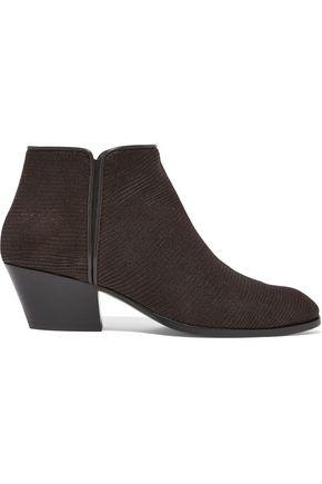 GIUSEPPE ZANOTTI DESIGN Lizard-effect leather ankle boots