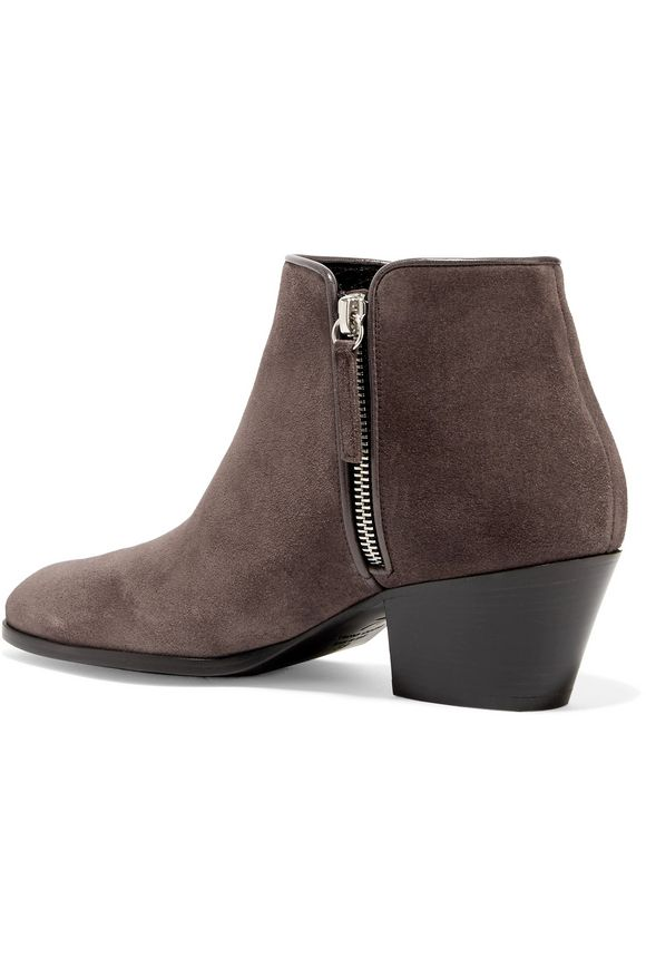Leather-trimmed suede ankle boots | GIUSEPPE ZANOTTI DESIGN | Sale up to 70%  off | THE OUTNET