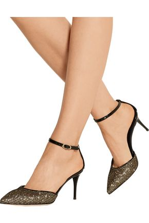 GIUSEPPE ZANOTTI Yvette glittered leather pumps