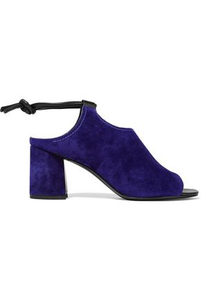3.1 PHILLIP LIM Drum leather-trimmed cutout suede sandals