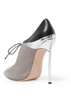CASADEI Paneled leather pumps