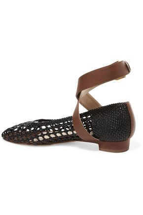 PAUL ANDREW Woven leather ballet flats