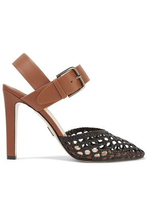 PAUL ANDREW Cutout two-tone leather pumps
