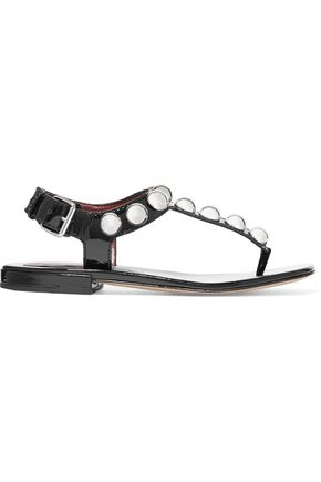 MARC BY MARC JACOBS Liv embellished patent leather sandals