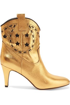 MARC JACOBS Georgia metallic leather ankle boots