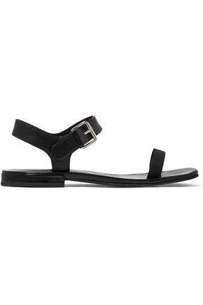 MARC JACOBS Elizabeth leather and canvas sandals