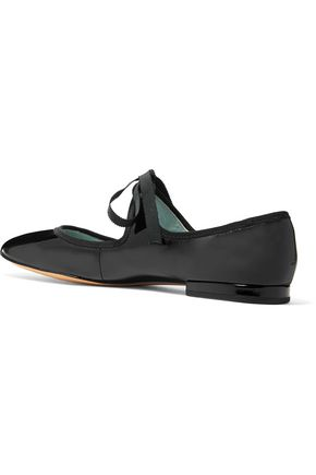 MARC JACOBS Lisa Mary Jane patent-leather ballet flats