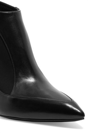 CASADEI Scuba-paneled leather ankle boots