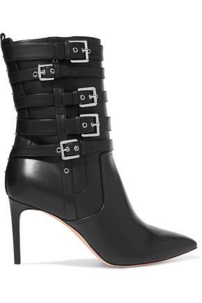 CASADEI Buckled leather ankle boots