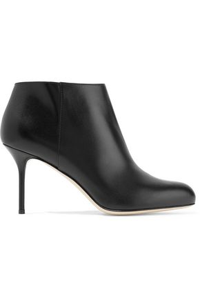 SERGIO ROSSI Madame leather ankle boots