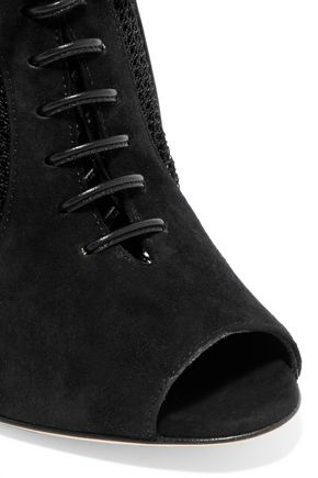 SERGIO ROSSI Paneled suede boots