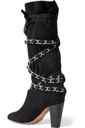 ISABEL MARANT Soono chain-trimmed suede boots
