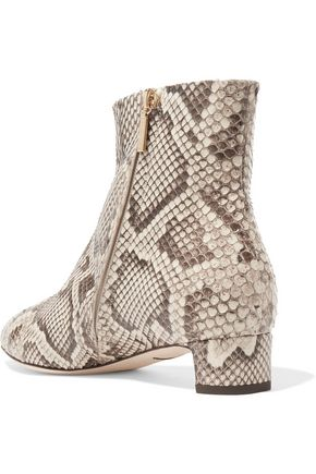 DOLCE & GABBANA Python ankle boots