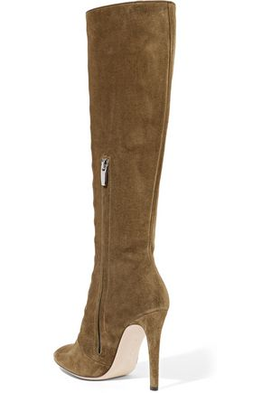 GIANVITO ROSSI Suede knee boots