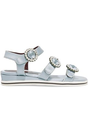 MARC BY MARC JACOBS Charlotte crystal-embellished satin sandals
