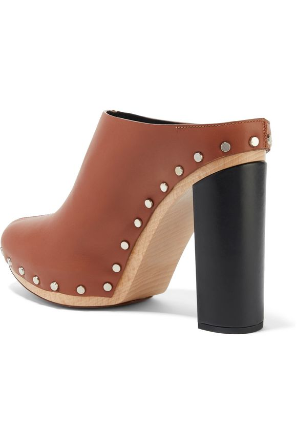 Studded leather clogs | PROENZA SCHOULER | Sale up to 70% off | THE OUTNET
