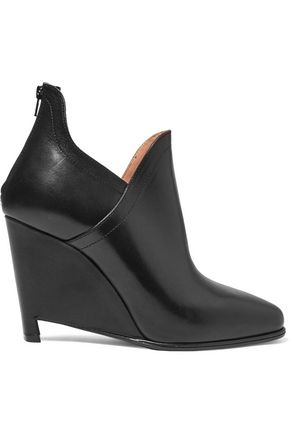 MAISON MARGIELA Leather wedge ankle boots