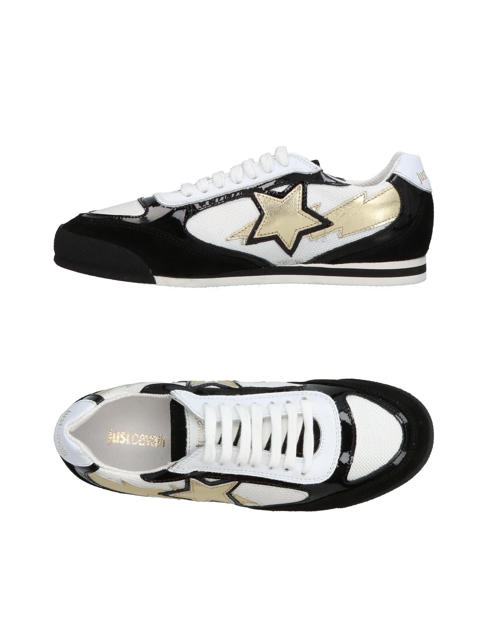 JUST CAVALLI Damen Low Sneakers & Tennisschuhe Farbe Schwarz Größe 9