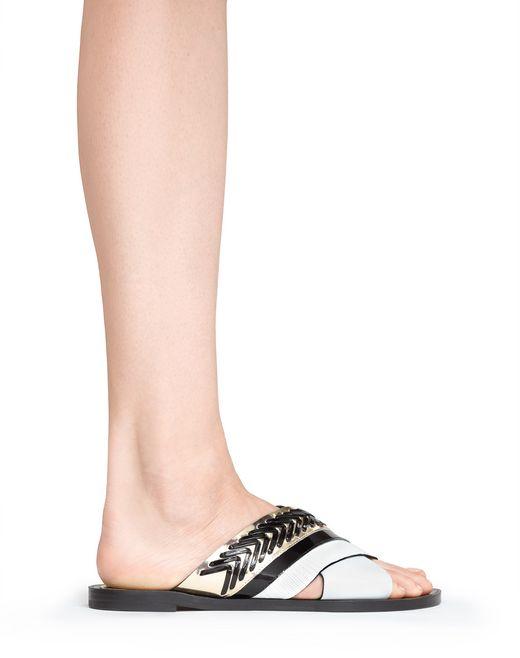 lanvin crossover woven sandal women