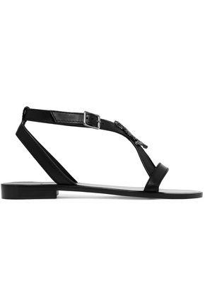 SAINT LAURENT Embellished leather sandals