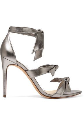 ALEXANDRE BIRMAN Lolita bow-embellished metallic leather sandals