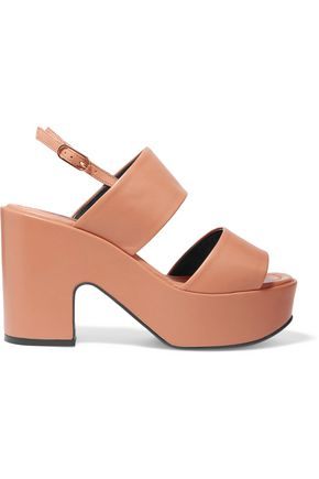 ROBERT CLERGERIE Emple leather platform sandals