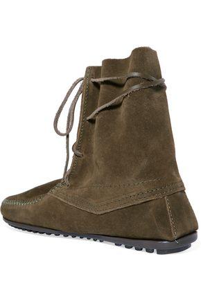 MINNETONKA x MAJE x Minnetonka suede lace-up boots