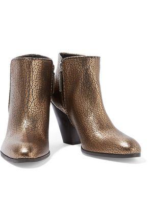 GIUSEPPE ZANOTTI DESIGN Metallic textured-leather ankle boots