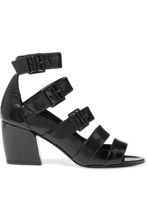 PIERRE HARDY Buckled textured-leather sandals