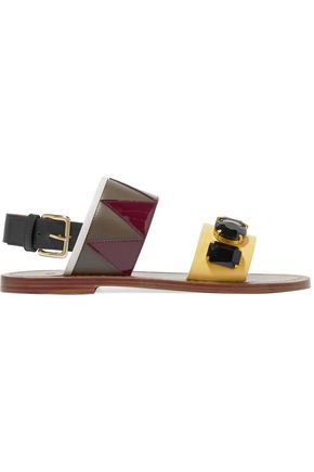 MARNI Embellished leather sandals