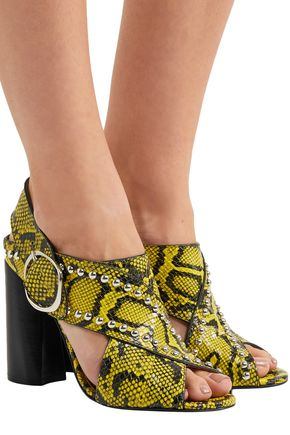 3.1 PHILLIP LIM Studded snake-effect leather sandals