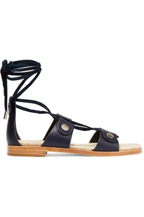 RAG & BONE Evelyn suede-trimmed leather sandals
