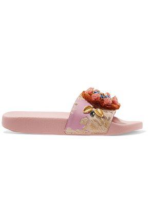 DOLCE & GABBANA حذاء سلايد من الجاكارد مزين