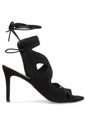 LOEFFLER RANDALL Leila lace-up suede sandals