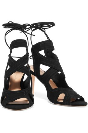 LOEFFLER RANDALL Leila lace-up suede sandals